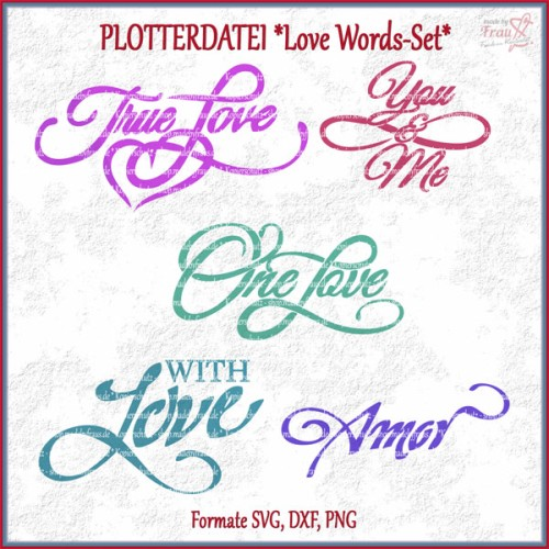 Love Words-Set *Plotterdatei