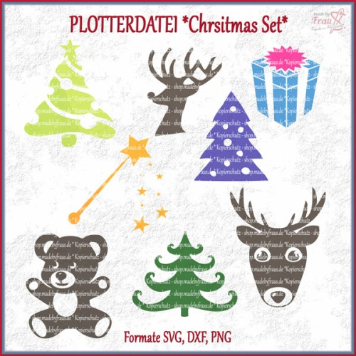 Christmas-Set *Plotterdatei - 8 Motive