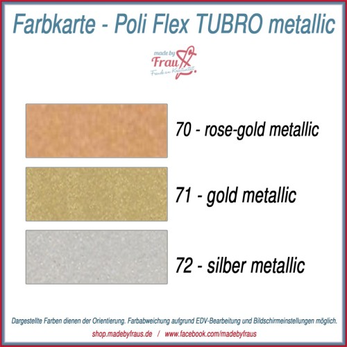 Flexfolie Poli-Flex TURBO metallic - ca 21x50cm