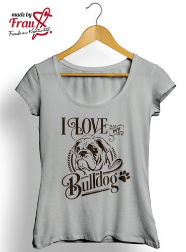 I Love my Bulldog *Bügelbild