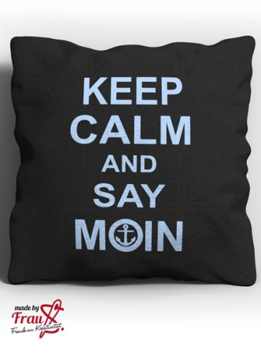 keep calm and say MOIN *Bügelbild