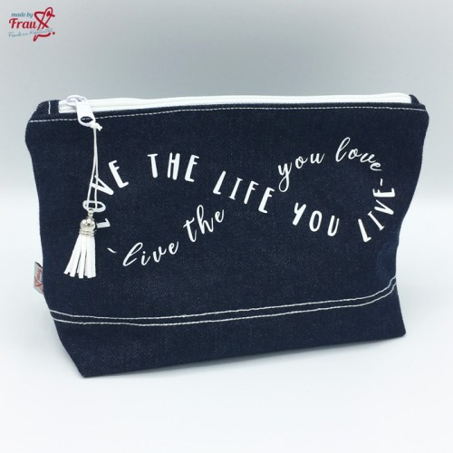 Kosmetiktasche Jeans - love the life