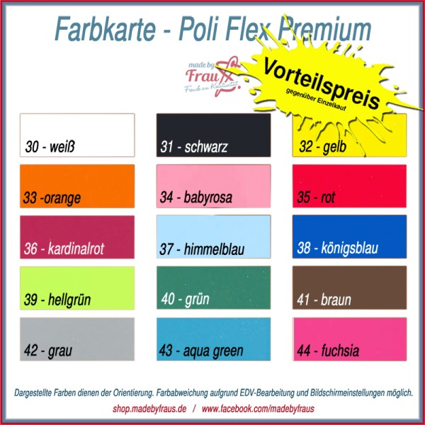 Set Flexfolie Poli-Flex Premium