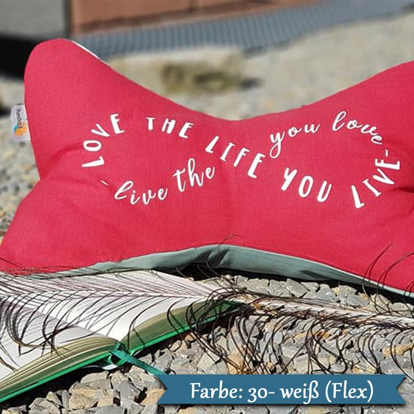 love the life you live Buegelbild