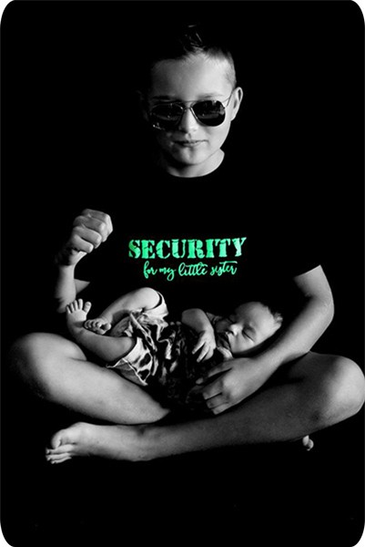 SECURITY for my little sister Shirt Design