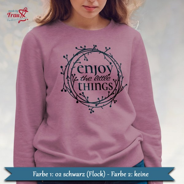 enjoy the little things - Pullover schwarz