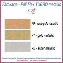 Flexfolie Poli-Flex TURBO metallic - Streifen ca 10x21cm